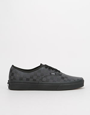 Vans Authentic Skate Shoes - (High Density) Black/Checkerboard