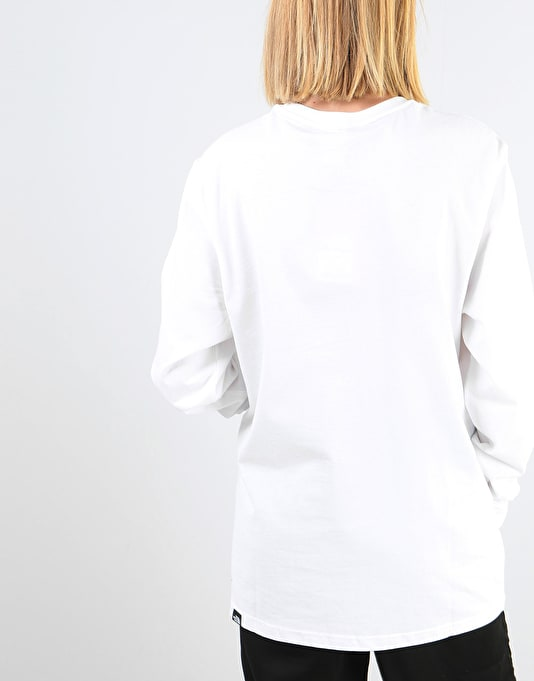 The North Face Womens L/S Fine Oversized T-Shirt - TNF White