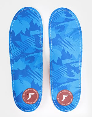 Footprint Blue Camo Kingfoam Orthotics Low Insoles