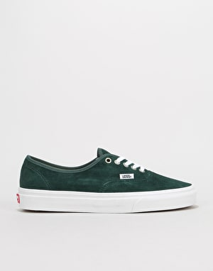 Vans Authentic Skate Shoes - (Pig Suede) Darkest Spruce/True White