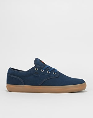 Globe Motley Skate Shoes - Dark Blue/Gum