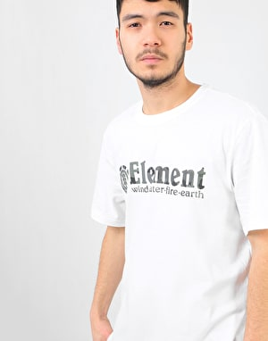 Element Bark Horizontal T-Shirt - Optic White