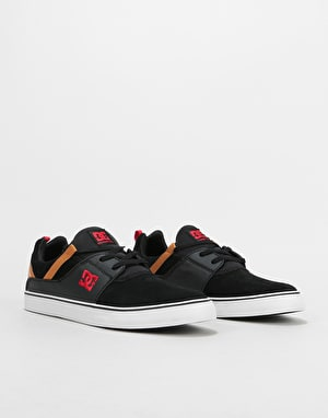 DC Heathrow Vulc Skate Shoes - Black/Camel