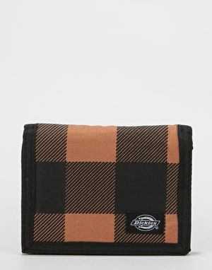 Dickies Crescent Bay Wallet - Brown Duck Check