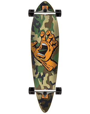 Santa Cruz Screaming Hand Camo Pintail Longboard - 39