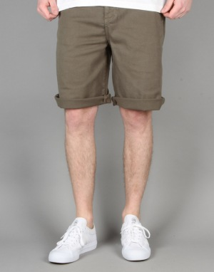 Route One Classic Fit Chino Shorts - Olive