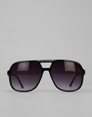 Route One Basics Sports Aviator Sunglasses - Black