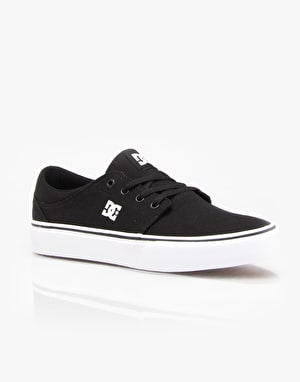 DC Trase TX Skate Shoes - Black/White