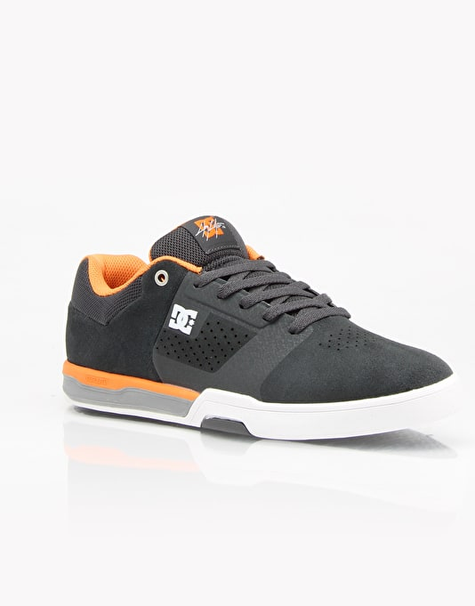 DC Cole Lite 2 S Skate Shoes - Grey/Orange/Grey