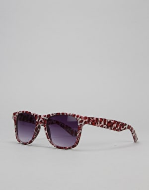 Route One Basics Animal Wayfarer Sunglasses - White/Leopard