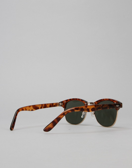 Route One Basics Clubmaster Sunglasses - Tortoise