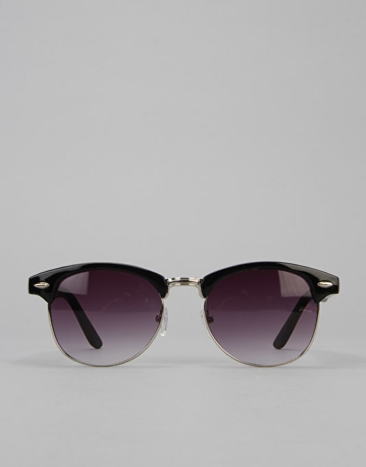 Route One Basics Clubmaster Sunglasses - Black