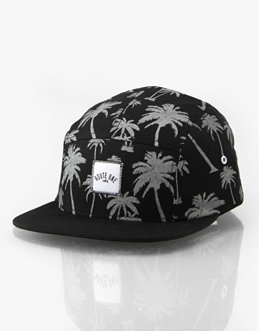 Route One All Over Palms 5 Panel Cap