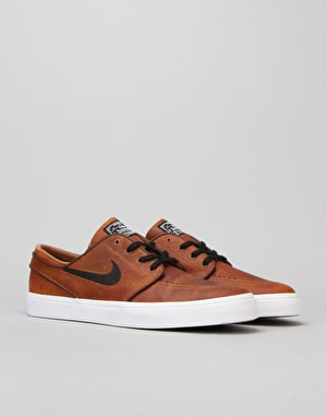 Nike SB Zoom Stefan Janoski Elite Skate Shoes - Al Brown/Blk-Wht