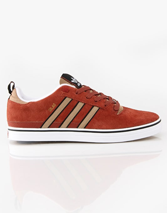 Adidas Silas Pro 2 Skate Shoes - Brown Canvas/Black