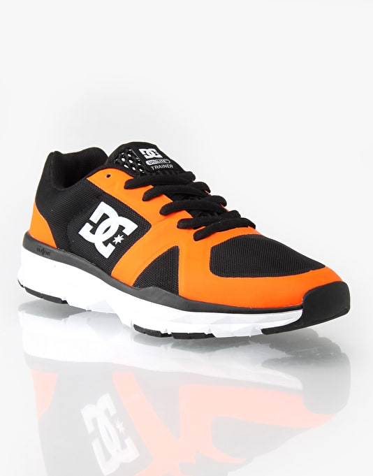 DC Unilite Trainers - Black/Fluro Orange