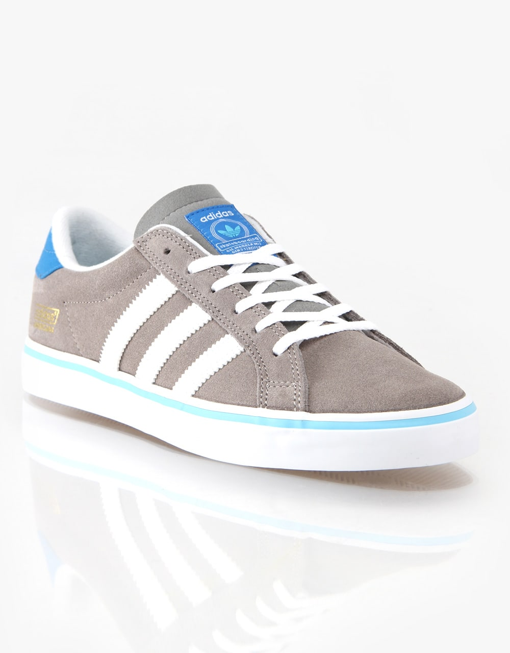 online retailer a435a 43384 Adidas Americana Vin Skate Shoes - GreyWhiteBluebird  Skate Shoes  Mens  Skateboarding Trainers  Footwear  Route One
