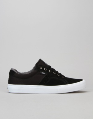 Lakai Flaco Skate Shoes - Black/Grey Suede