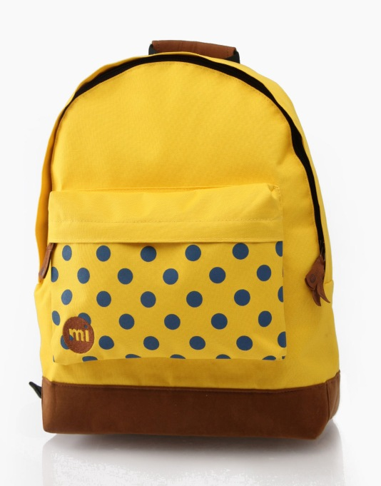Mi-Pac Polka Dot Backpack - Yellow
