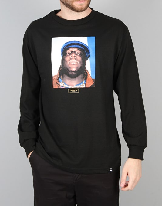 Primitive x Notorious B.I.G. Biggie L/S T-Shirt - Black