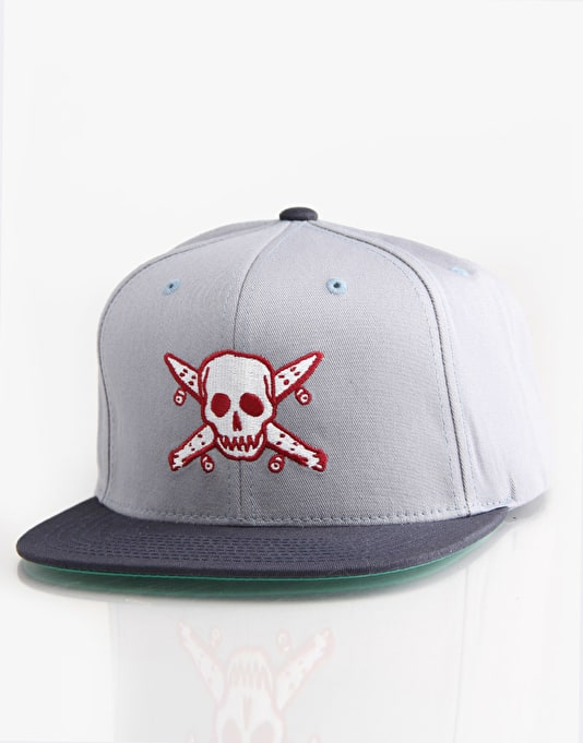 Fourstar Pirate Starter Snapback Cap - Grey/Navy