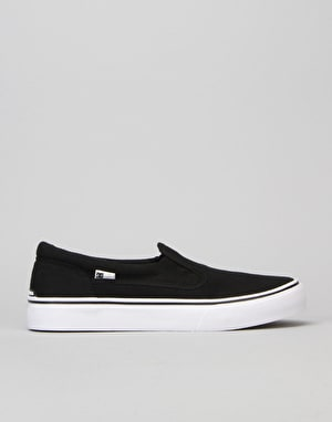 DC Trase Slip-On Boys Skate Shoe - Black/White
