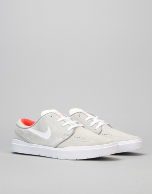 Nike SB Stefan Janoski Hyperfeel Skate Shoes - Wolf Grey/Bright Crmsn