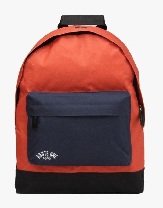 Route One Backpack - Cordovan/Navy