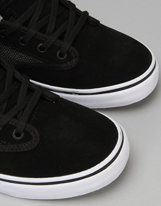 Globe Motley Mid Skate Shoes - Black Suede/Woven