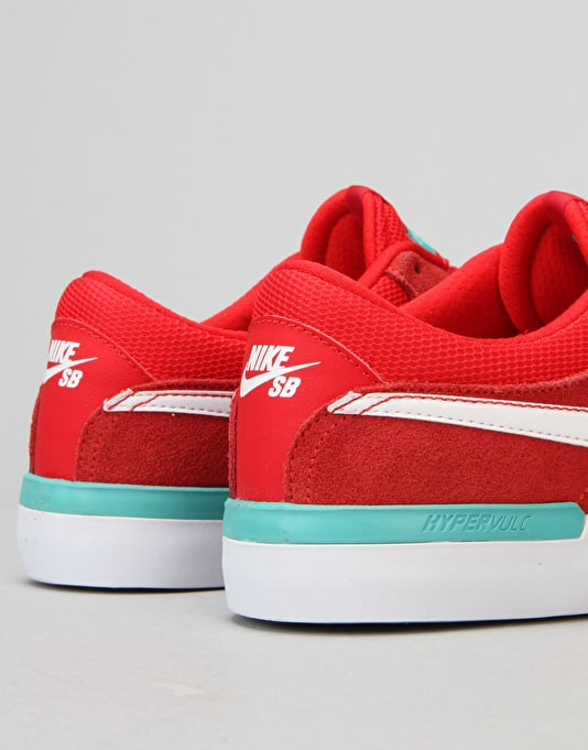 eaa7a18be9523d Nike SB Koston Hypervulc Skate Shoes - University Red White Clr Jade ...