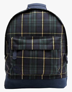 Mi-Pac Tartan Backpack - Black Watch/Yellow