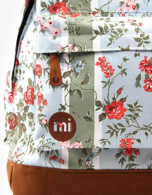 Mi-Pac Floral Backpack - Blue Rose