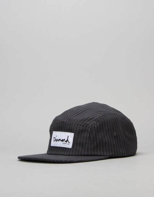 Diamond Supply Co. Monte Carlo 5 Panel Cap - Black