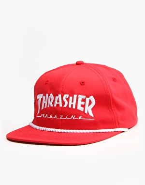 Thrasher Rope Snapback Cap - Red/White
