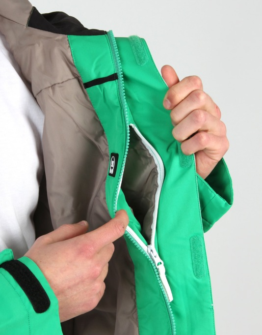 DC Form Snowboard Jacket - Emerald White