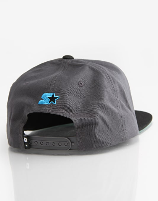 Fourstar Arched Starter Snapback Cap - Charcoal/Black
