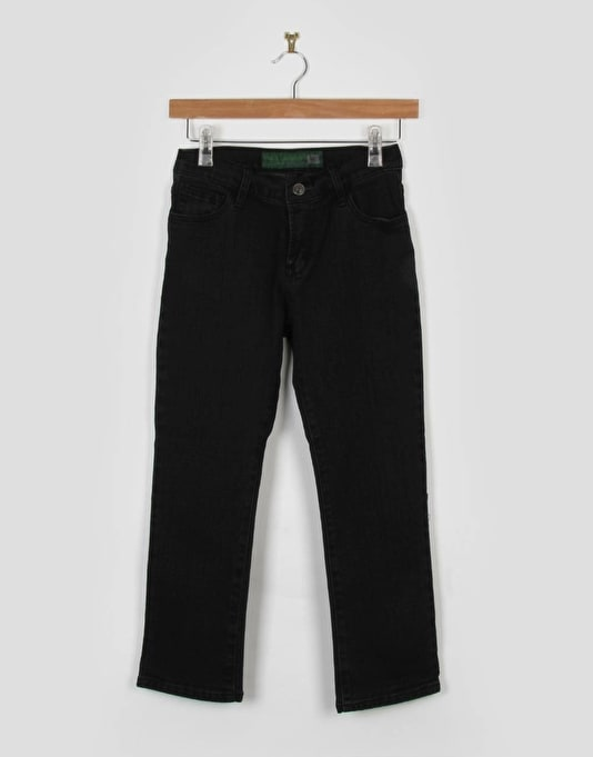 Route One Straight Fit Boys Jeans - Black