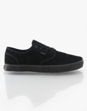 DVS Rico CT Skate Shoes - Black/Black/Suede