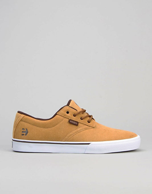 Etnies Jameson Vulc (Nick Garcia) Skate Shoes - Tan/Brown/White