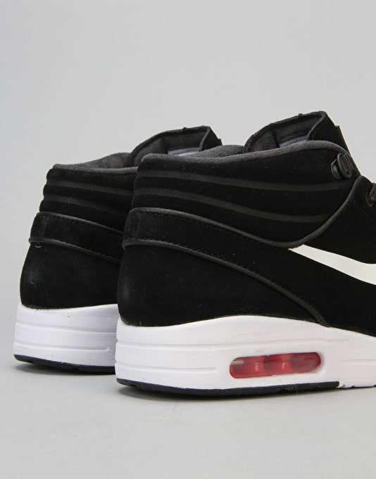Nike SB Stefan Janoski Max Mid Shoes - Black/White-University Red