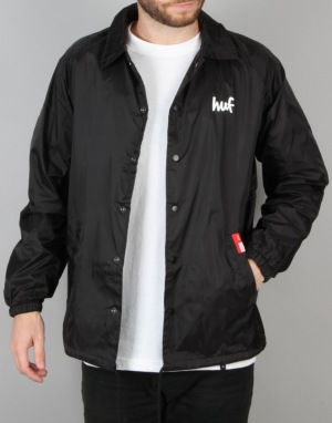HUF x Chocolate Chunk Coach Jacket - Black