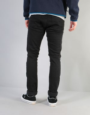 Route One Skinny Denim Jeans - Black