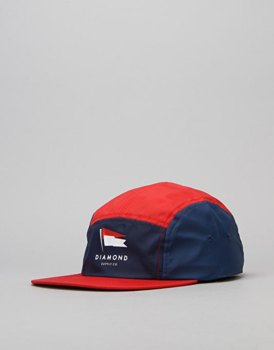Diamond Supply Co. Yacht 5 Panel Cap - Red
