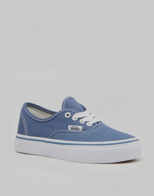 Vans Authentic Boys Skate Shoes - Navy