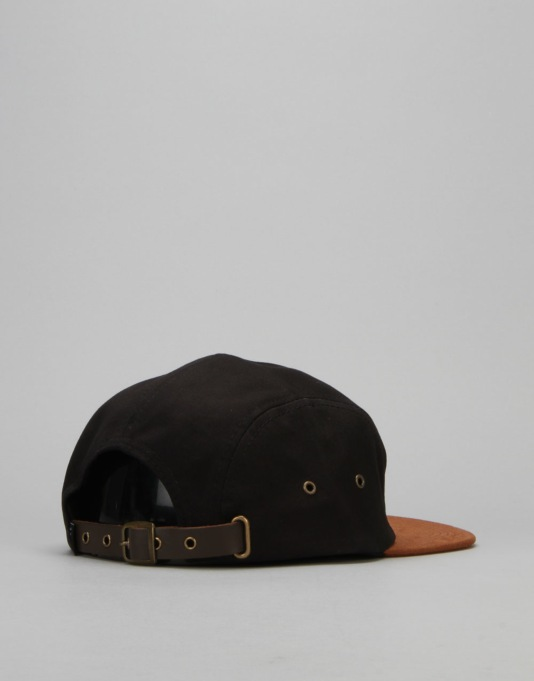 Globe Errol 5 Panel Cap - Black/Black
