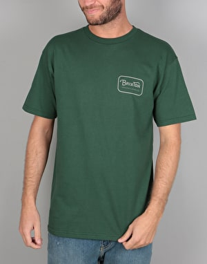 Brixton Grade S/S T-Shirt - Forest Green