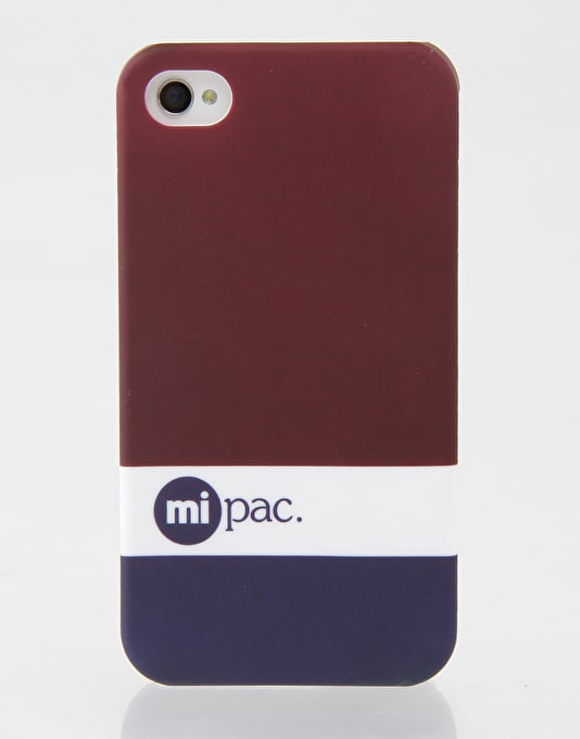 Mi-Pac Tonal iPhone 4/4s Hardcase - Burgundy/White/Blue