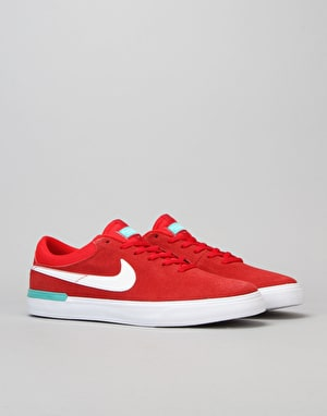 Nike SB Koston Hypervulc Skate Shoes - University Red/White Clr Jade