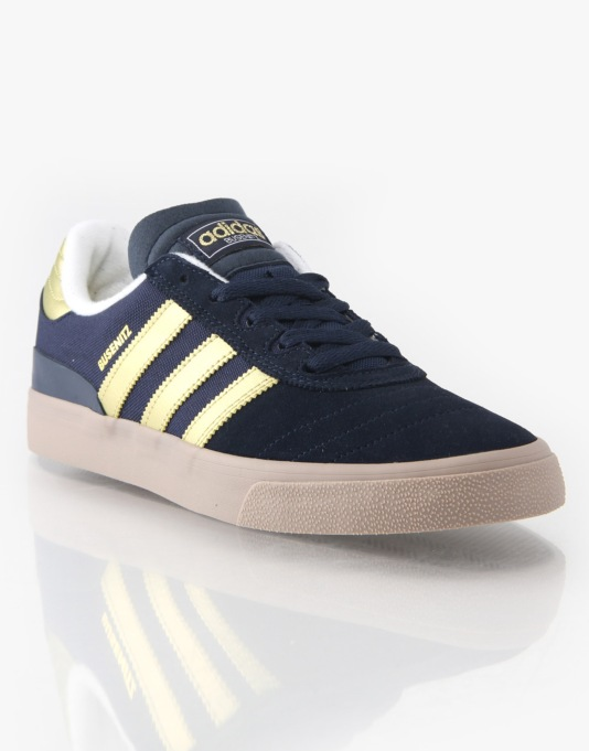 Adidas Busenitz Vulc Skate Shoes - Navy/Gold/Gum