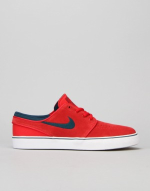 Nike SB Stefan Janoski Boys Skate Shoes - University Red/Midnight